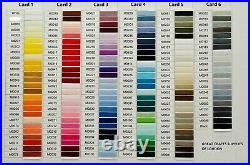 100 COATS MOON POLYESTER ALL PURPOSE SEWING SPOOLS THREAD, 100 dif. Colors
