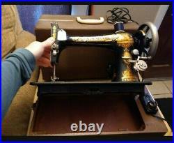 1800's WORKING Vintage Singer Sewing Machine Complete in Original Case