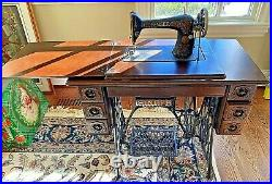1912 Treadle Singer Sewing Machine in Refinished 7 Drawer Cabinet G2374363 Works
