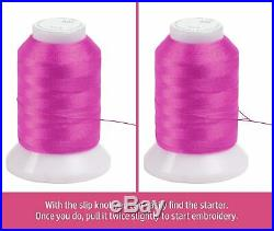 260 Spools Polyester & Embroidery Sewing Machine Thread set 550Y each Spools