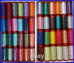 75 Spools of Embroidery Thread for Brother, Janome, Singer & more, 75 Colours