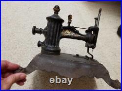 ANTIQUE HAND CRANK PAW FOOT FOLSOM SEWING MACHINE c1860s