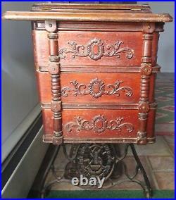 Antique 1900 Singer Treadle 6 Drawer Sewing Machine Oak #N178668 Elizabethtown