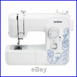 Brother LX3817 17-Stitches Lightweight Full Size Sewing Machine White FAST SHIP