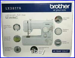 Brother LX3817A Sewing Machine Aqua- 17-Stitch Full-size NEW FREE SHIPPING