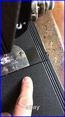 Crinkle Godzilla Featherweight Singer Sewing Machine 221 Blackside
