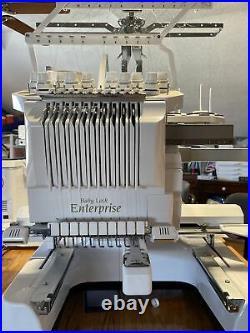 ENTERPRISE 10 Needle Babylock sewing embroidery machine. Amazing embroidery