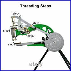 Hand Cobbler Shoe Repair Sewing Machine Dual Leather Cloth Cotton Nylon Thread