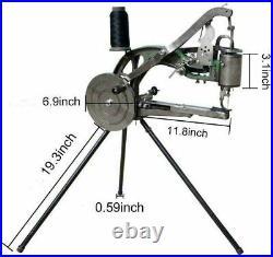 Hand Cobbler Shoe Repair Sewing Machine Leather Cloth Cotton Nylon+10PCS Needles