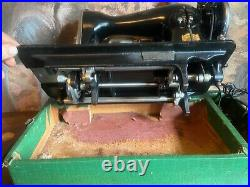 Heavy duty sewing machine. Sews leather, similar to Singer 15-91. Fully restored