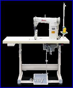 IKonix KS-810 Sewing Machine, Post Bed, Roller feed lamp Servo Motor+Table. DiY