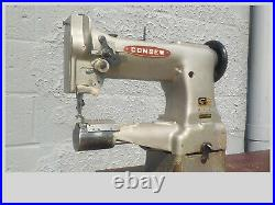 Industrial Sewing Machine Model Consew 227, Grey, walking foot, cylinder, Leather