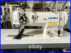 Juki LU-1560N Double Needle Walking Foot Lock-stitch Sewing Machine Complete NEW