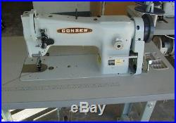 New Consew 206RB-5 Upholstery Sewing Machine with KD stand and 3/4hp servo motor
