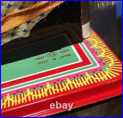 RARE VINTAGE DOLLY DRESSMAKER Tin Toy Seamstress Sewing Machine Japan T. N