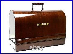 SINGER Sewing Machine Bentwood Wooden Carrying Case 99k 28 128 VS-3 Restored