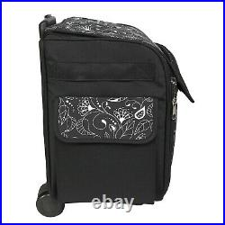 Sewing Machine Storage Bag Tote Case Rolling with Wheels Sew Carrier Wheeled Black
