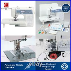 Sewing Quilting Embroidery Machine Computerized Screen Automatic Needle Threader