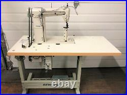 Sewline 810 New 1-needle Postbed Rollfeed & 110v Servo Industrial Sewing Machine