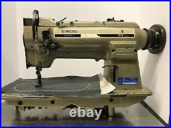 Singer 212U539A 2 Needle Lockstitch Walking Foot Industrial Sewing Machine