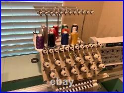 Tajima TMEX-C1201, 12 Needle, Single Head Industrial Embroidery Machine / hats