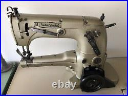 UNION SPECIAL 31200 TWO NEEDLE UP-ARM TAPER WithFOLDER INDUSTRIAL SEWING MACHINE