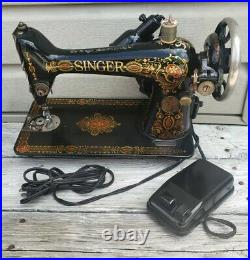 VINTAGE 1919 Model #66 Red Eye Singer Sewing Machine with Foot Pedal# G6588045