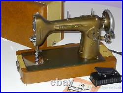 VINTAGE NEW HOME SEWING MACHINE LIGHT-RUNNING MODEL NLB 1940s CASE PEDAL MANUAL