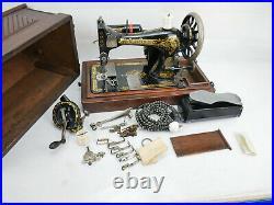 Victorian Decals Sewing Machine Singer 28 K 1904 Antique Collectibles