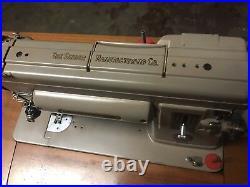 Vintage 1950's Singer Sewing machine table 301 Slant 301A