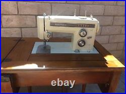 Vintage Kenmore Sewing Machine Model 158.13571 and Table