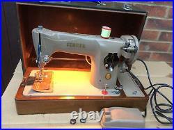 Vintage Singer 201, 201K Aluminium Body Semi-Industrial electric sewing machine
