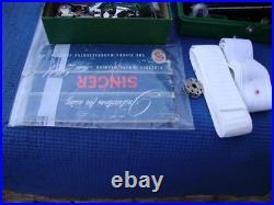 Vintage Singer 221 Featherweight Sewing Machine + Bobbin case + Carrying Case #2