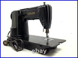 Vintage Singer 301a Slant Heavy Duty Sewing Machine Black