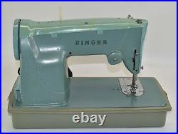 Vintage Singer 329K Sewing Machine Model 13608M Foot Pedal and Case Tested Works