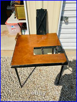 Vintage Singer Featherweight Sewing Machine 221 Folding Table with Insert #2