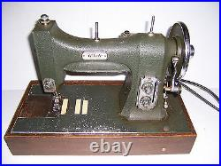 Vintage White Rotary Series 77 Sewing Machine With Case And Accessories Works