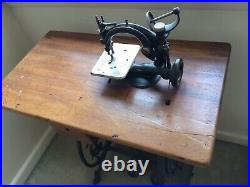Willcox & Gibbs Antique Sewing Machine With Table